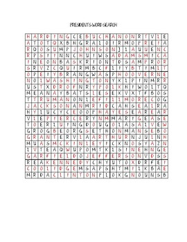 President's Word Search