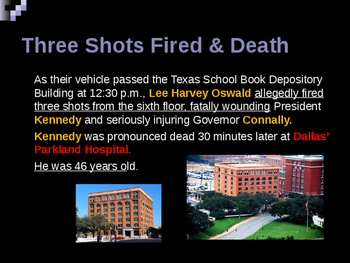Presidential Assassinations - John F Kennedy