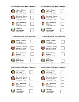 Presidential Ballots with Pictures
