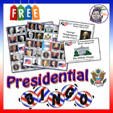 Middle School Bingo: US President's Day (1789 - 2017) - Social Studies