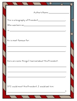 Presidential Biography Assignment