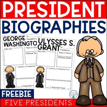 Presidential Biography Report Templates FREEBIE
