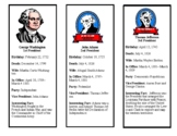 Presidential Book Marks *Includes Donald Trump*