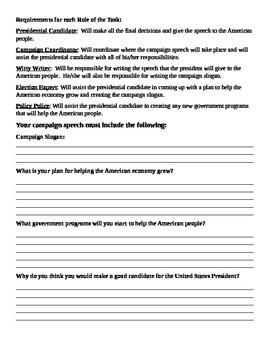 Presidential Candidate Team Task