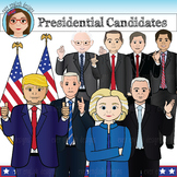 Election 2016- USA Presidential Candidates Clip Art