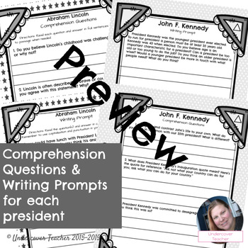 Presidential Close Reading Passages with Questions (No Prep) {Differentiated}