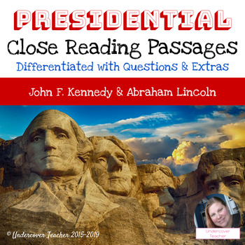 Presidential Close Reading Passages with Questions (No Pre