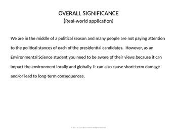 Presidential Debate on the Environment