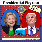 Presidential Election 2016: Booklets, Writing Project, and Coloring Pages