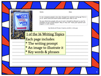 U.S. Elections: Vocabulary, Reading, Writing, and Speaking Activities