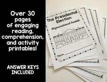 U.S. Presidency: Elections Reading Comprehension and Activity Pack