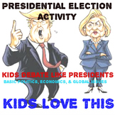 Presidential Election Activity: Kids Debate Issues Present
