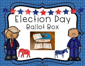 Election Day Ballot Box and Ballots