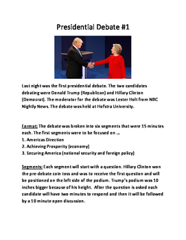 Presidential Election - Debate Review - information Clinto