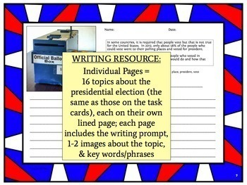 Presidential Election Discussion and Writing Topics
