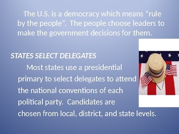 Presidential Election Process Power Point