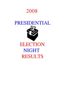 Presidential Election Results (2008)