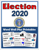 Presidential Election 2016 - Social Studies Word Wall & Pr