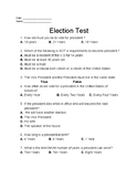 Presidential Election Test
