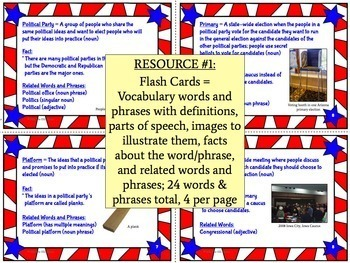 Presidential Election Vocabulary Resources