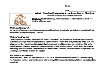 Presidential Election: What Do I Need To Know?