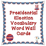 Presidential Election Word Wall Cards