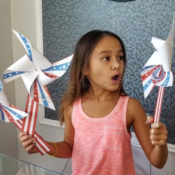 President's Day pinwheels craft activity FREE fact sheet and bald eagle