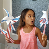 President's Day pinwheels craft activity FREE fact sheet and bald eagle