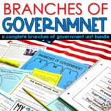 Branches of Government Unit Bundle and Activities