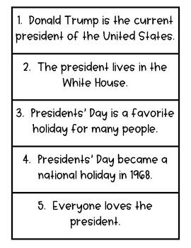 Presidential Fact and Opinion - 2 Sets of 15