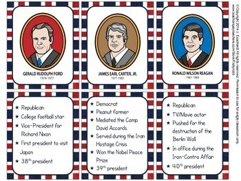 U.S. Presidents Fast Fact Cards