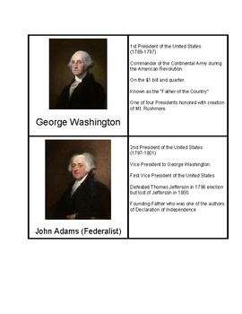Presidential Flashcards