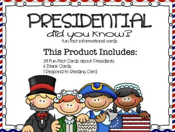 Fun Facts {Presidential}