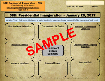 Presidential Inauguration 2017 - DBQ - PDF for Handouts