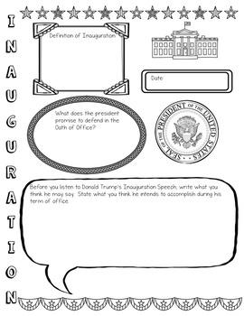 Presidential Inauguration Graphic Organizer & Recording Sheet