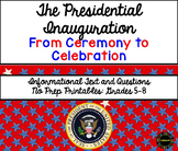 Close Reading Informational Text: Presidential Inauguration