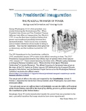 Presidential Inauguration Viewing Guide, Vocabulary, Quest