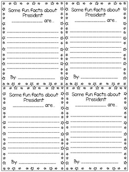 Presidential Know-It-All Fill in the Blank Research Task Card Activity