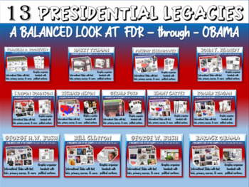 Presidential Legacies PPTs, Handouts, Primary Sources (FDR through Reagan)