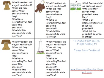 Presidential Listening Comprehension Packet