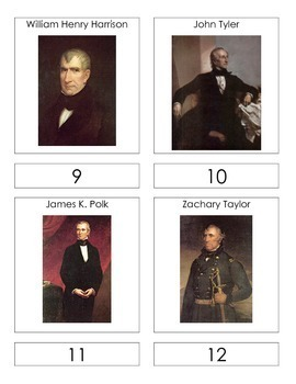 Presidential Order 3 Part Cards