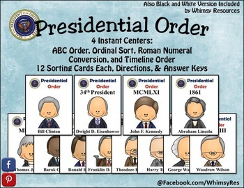 Presidential Orders, Ordinal, Roman, Numerals, Numbers, AB