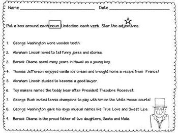 Presidential Parts of Speech