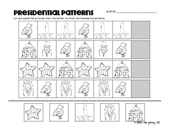 Presidential Patterns {A Pattern Activity for President's Day}