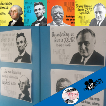 Presidential Posters - 4 Famous Presidents