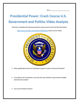 Presidential Power: Crash Course U.S. Government and Politics Video Analysis