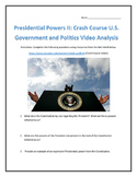 Presidential Powers II: Crash Course U.S. Government and Politics Video Analysis
