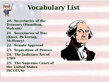 Presidential Precedents - Vocabulary Exercise