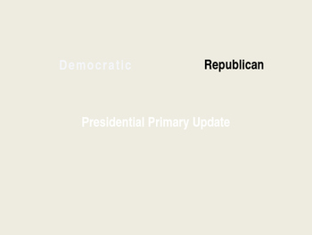 Presidential Primary Update May 19th Power Point