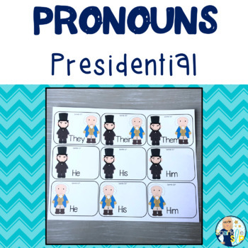 Presidential Themed Pronouns:  Task Cards & Worksheets